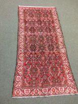 Lot 702 - Antique Malayer Persian rug circa 1900s 2.7 X 1.26m