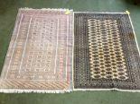 Lot 725 - 2 multi coloured rugs, 183x130cm & 186x125cm