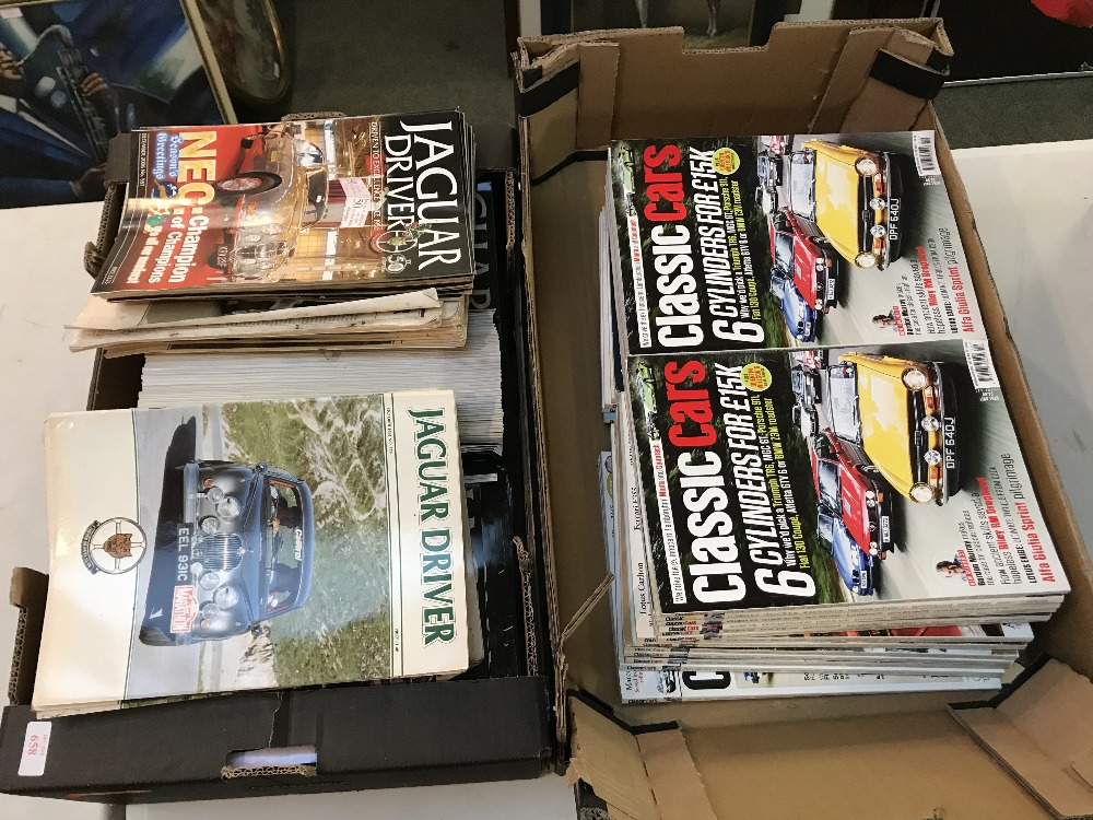 Lot 20 - Jaquar driver magazines 2005-2017 & some copies from the early 1990s, classic cars magazines 2008-