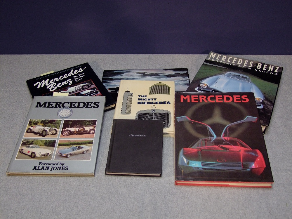 Lot 19 - Books on the history of Mercedes Benz, motorcars & motorbikes
