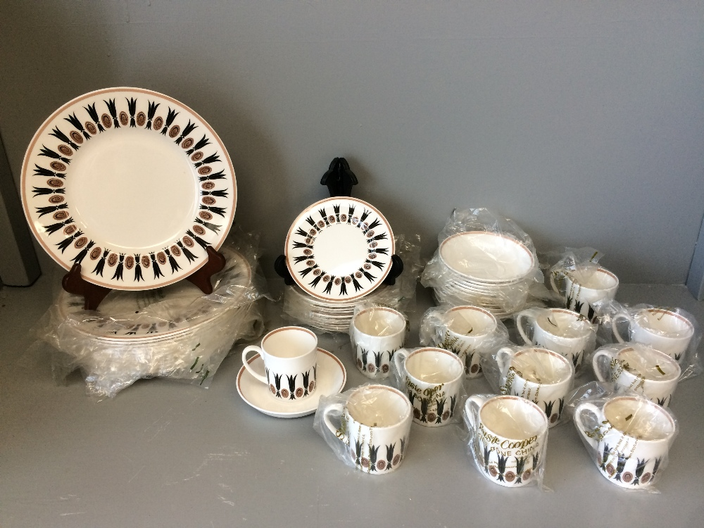 Lot 105 - Unused 'Susie Cooper' Corinthian 12 piece coffee service with small & large plates