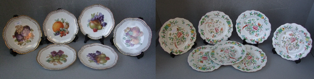 Lot 113 - Qty china to include plates, C19th plates, Staffordshire cups & saucers, Chinese blue & white china