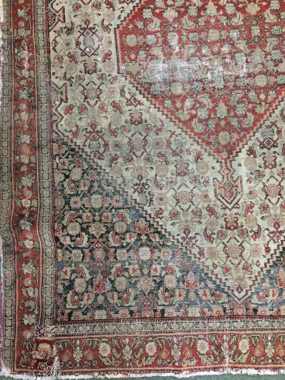 Lot 703 - Antique Senneh Persian rug circa C19th 1.86 X 1.3m