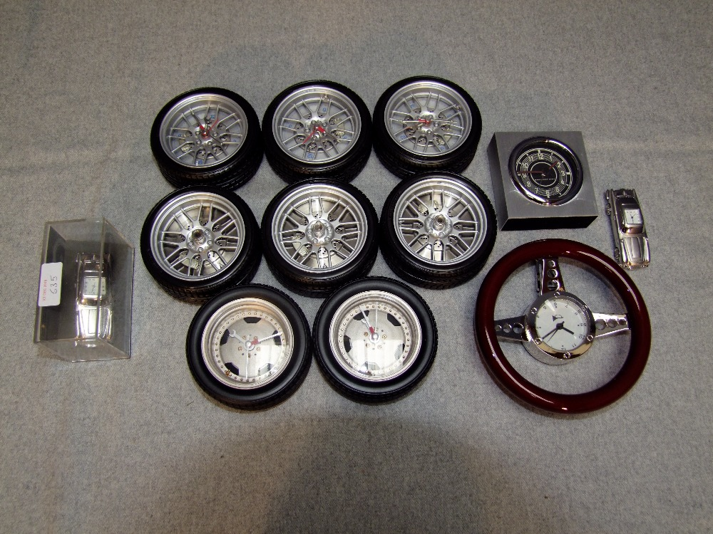 Lot 18 - Selection of Aston Martin & Mercedes Benz display clocks