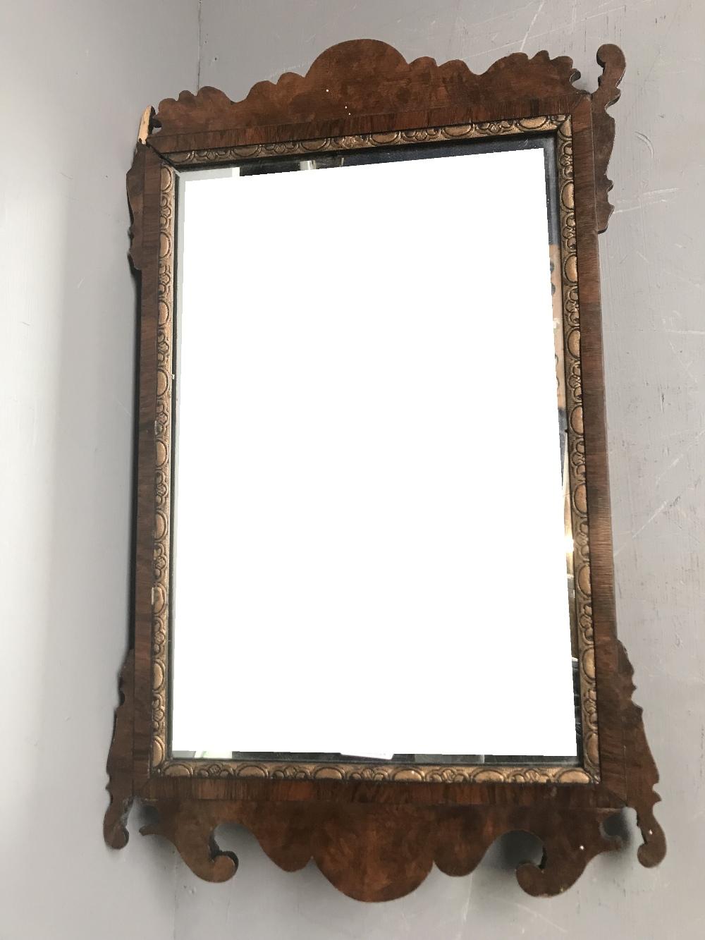 Lot 2 - General Clearance Lot: Georgian wall mirror (some restoration needed) 61x38cm