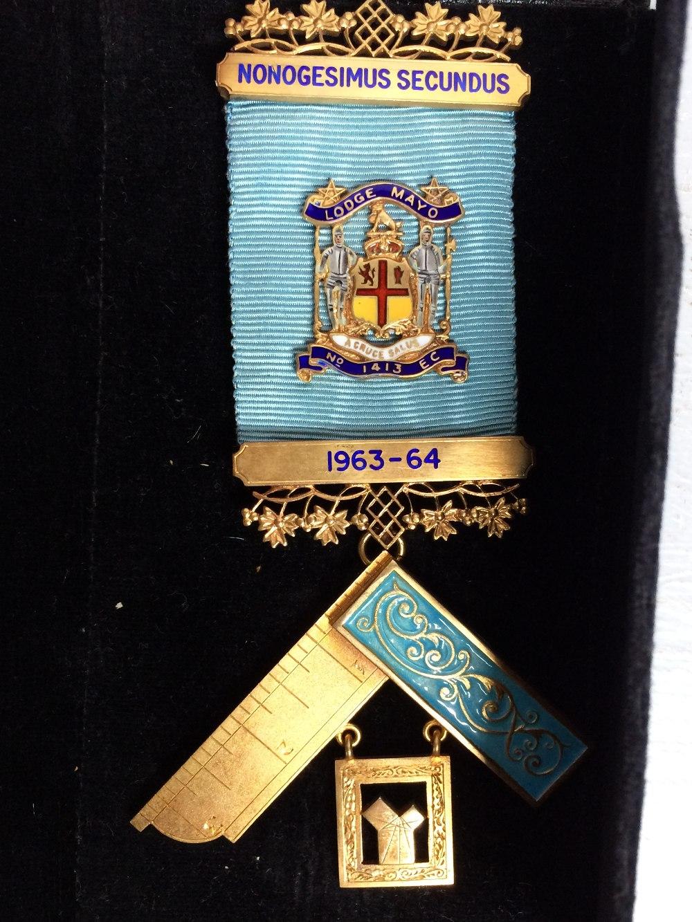 Lot 200 - 2 Masonic badges both silver gilt