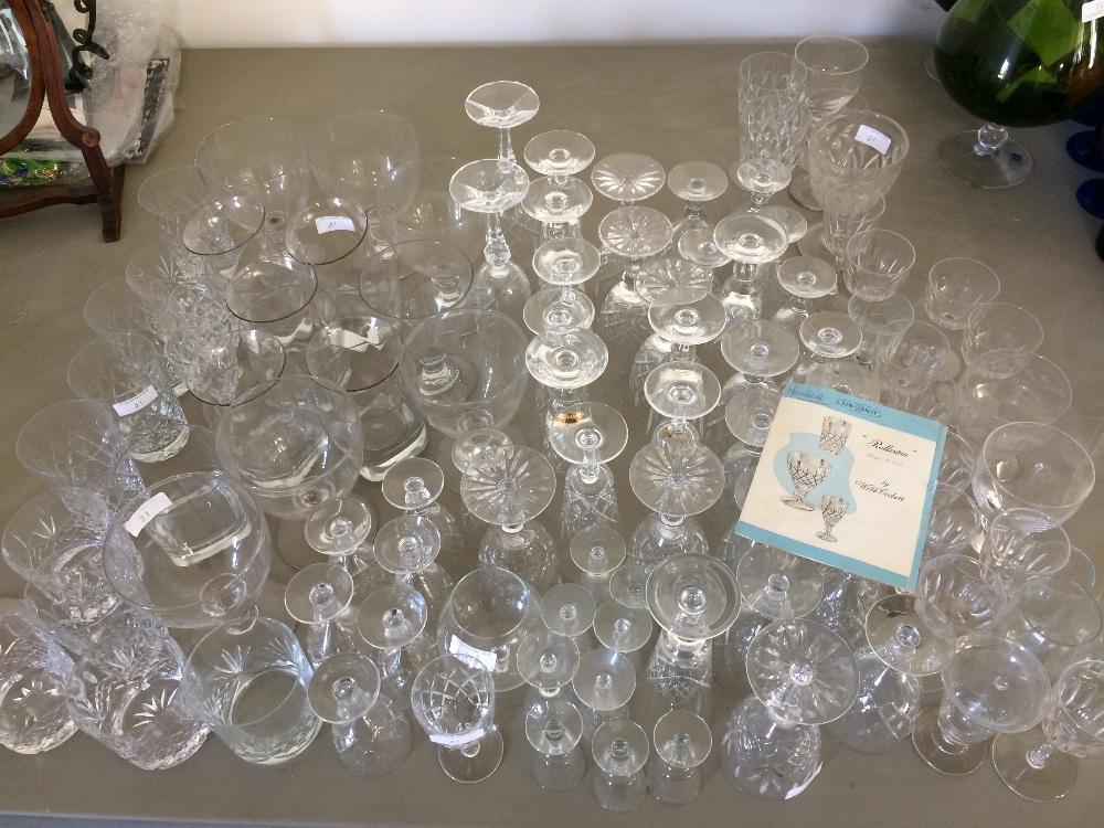 Lot 21 - Qty of glass including Webb Corbett & Georgian rummers