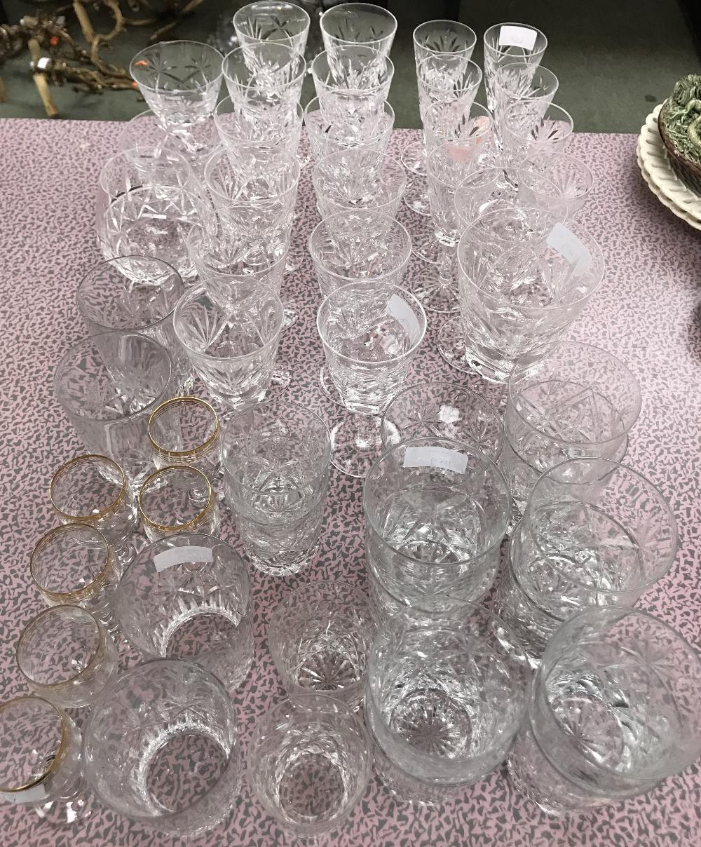 Lot 111 - Qty of crystal glasses of various sizes, including Waterford, Stuart , Brierley