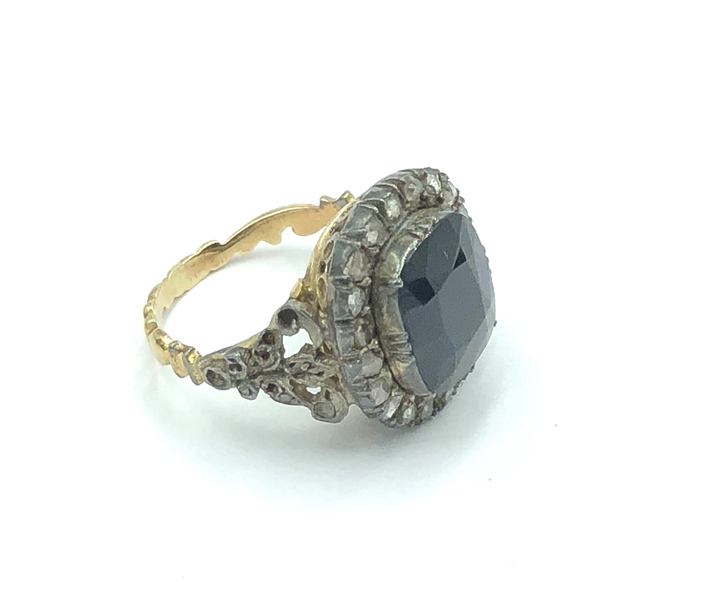 Lot 4 - NO ONLINE BIDDING LOTS 1-30. C19th Sapphire & diamond ring.