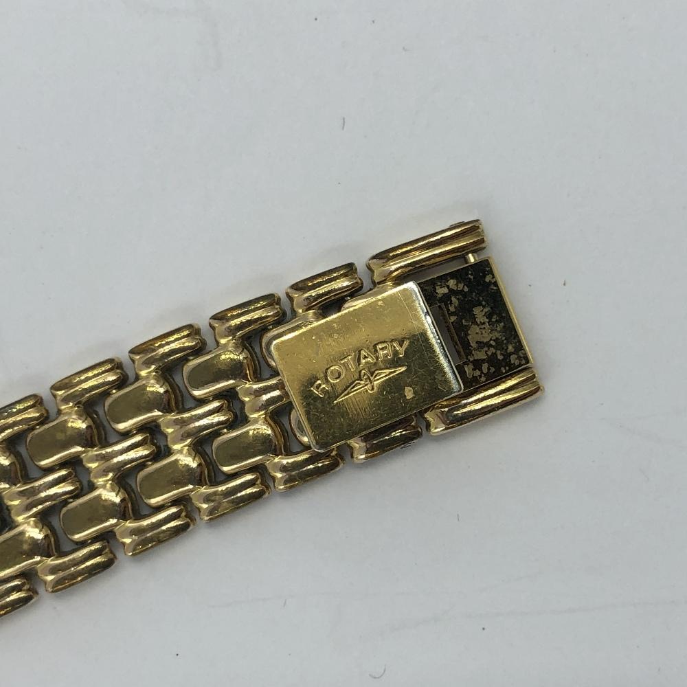 Lot 37 - Yellow metal ladies Rotary wristwatch