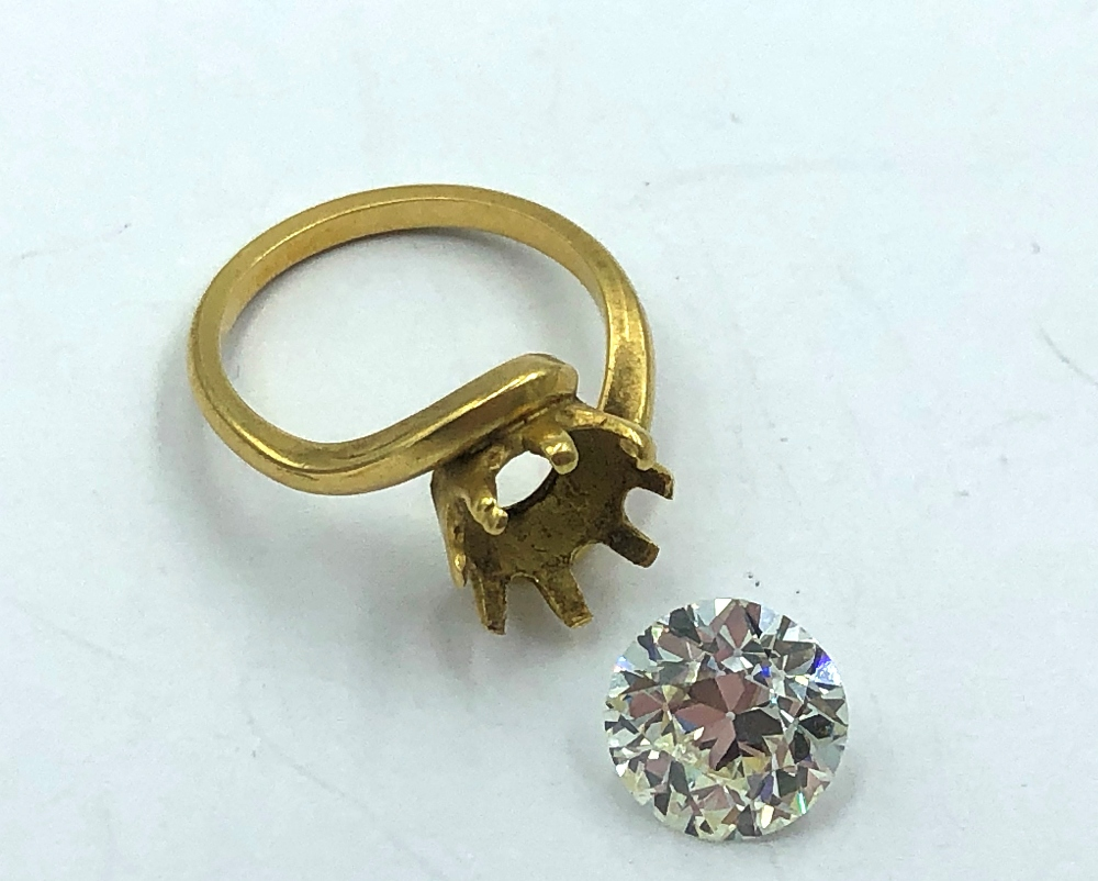 Lot 1 - NO ONLINE BIDDING FOR LOTS 1-30. A loose, 3.5ct old brilliant cut diamond with a