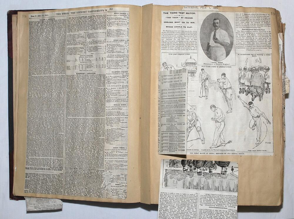 Lot 26 - Cuttings scrapbook 1899-1902. A large scrapbook comprising a comprehensive collection of press