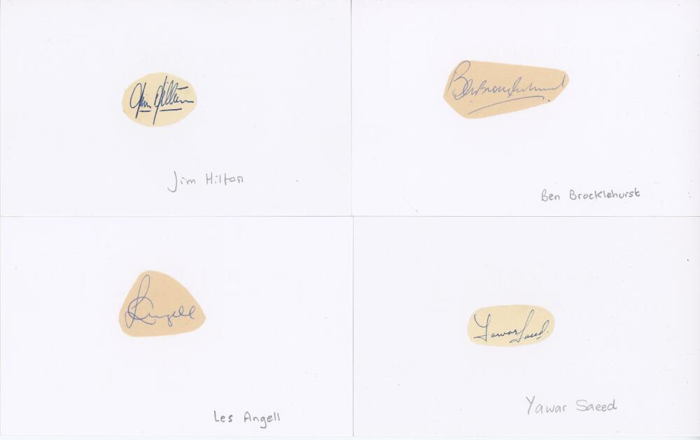 Lot 51 - Somerset. Selection of autographs, some album pages, but the majority laid down to white cards.