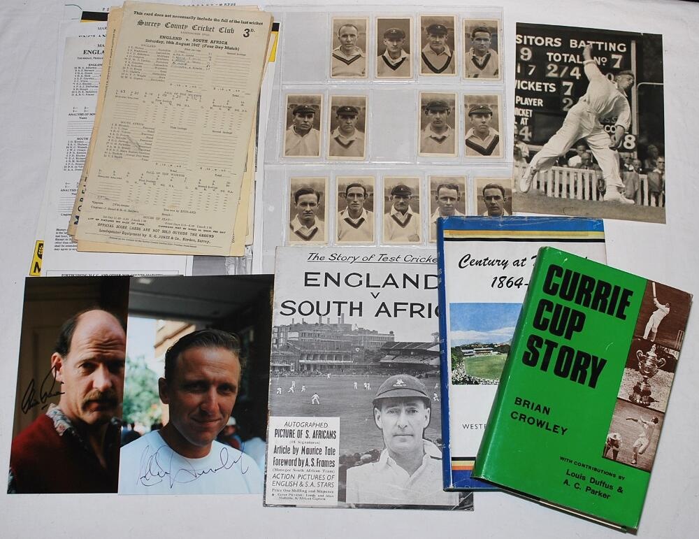 Lot 25 - South Africa tours to England 1940s-2000s. Box comprising a collection of ephemera relating to South