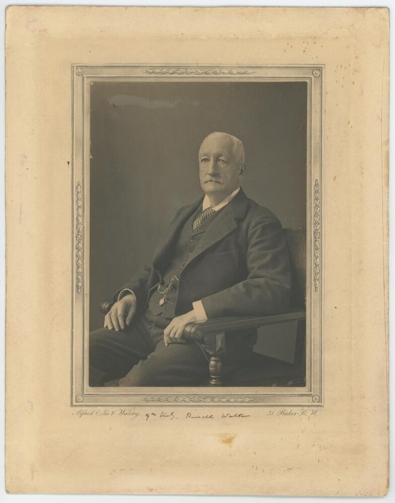 Lot 800 - Russell Donnithorne Walker. Oxford University & Middlesex 1861-1877. Original mono studio photograph