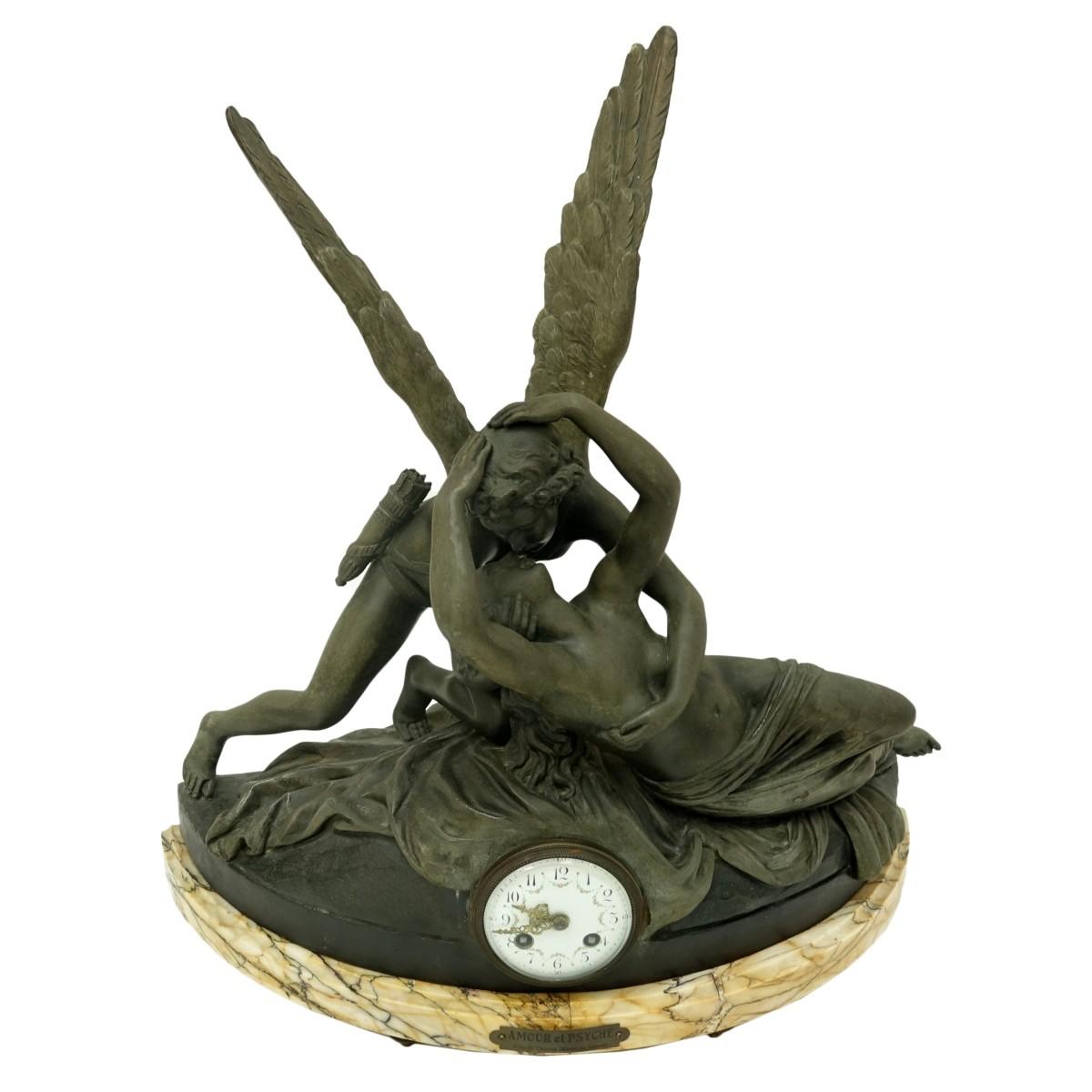 Lot 188 - After: Antonio Canova (1757 - 1822) Mantle Clock