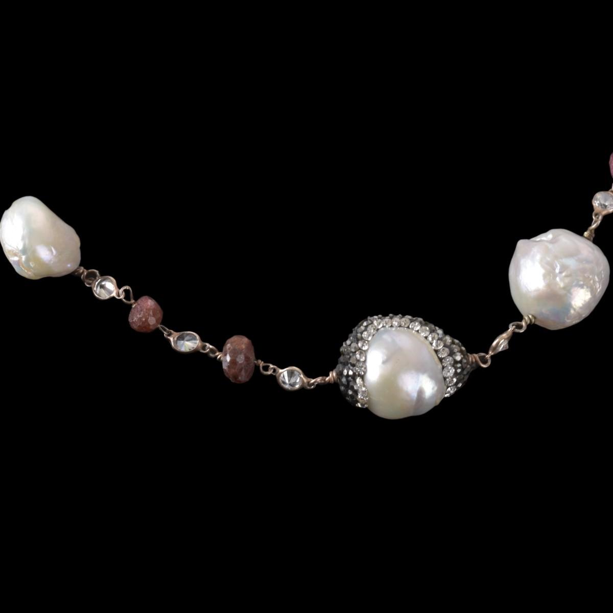 Lot 135 - Vintage Indian Baroque Pearl Necklace