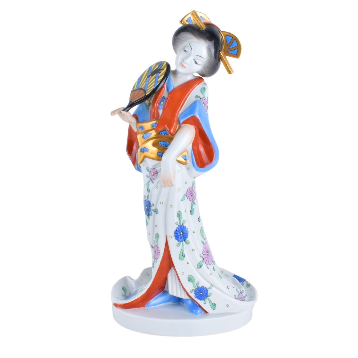 Lot 192 - Herend Porcelain Geisha Figurine