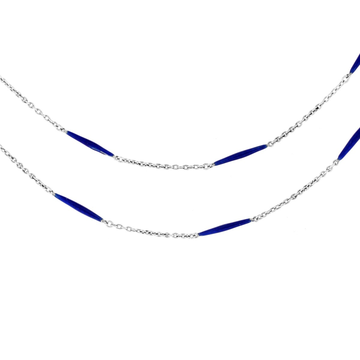 Lot 130 - Vintage 14K and Enamel Chain.