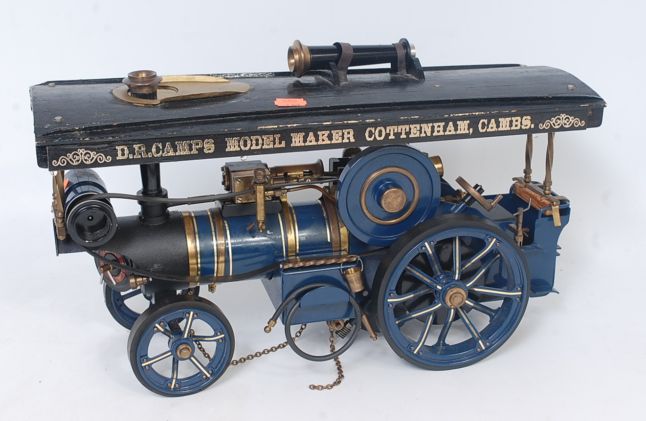 Lot 55 - A Markie Models live steam spirit fired model of a showman's road locomotive traction engine,