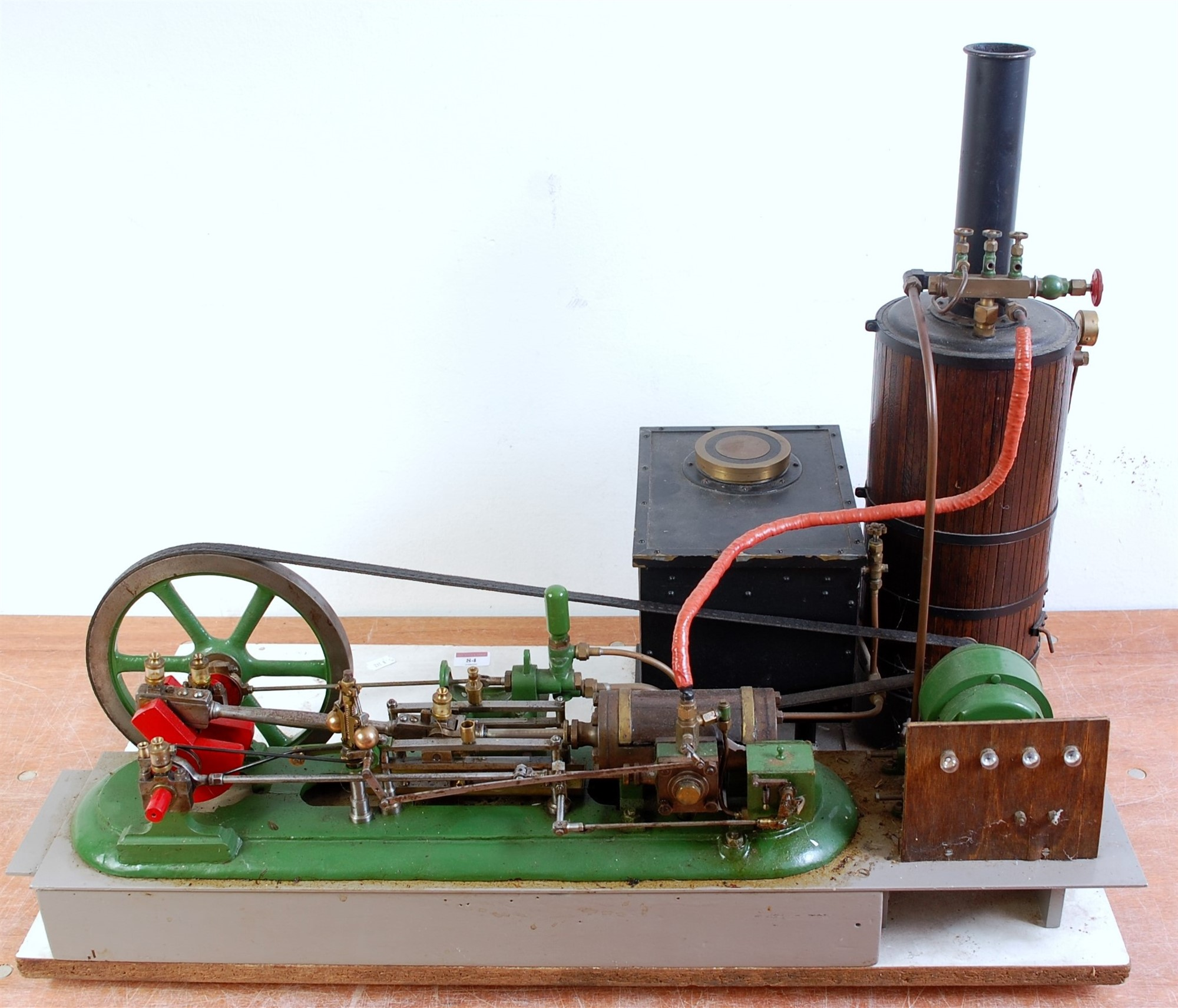 Lot 58 - A Stuart Turner and other components live steam stationary steam plant comprising of a horizontal