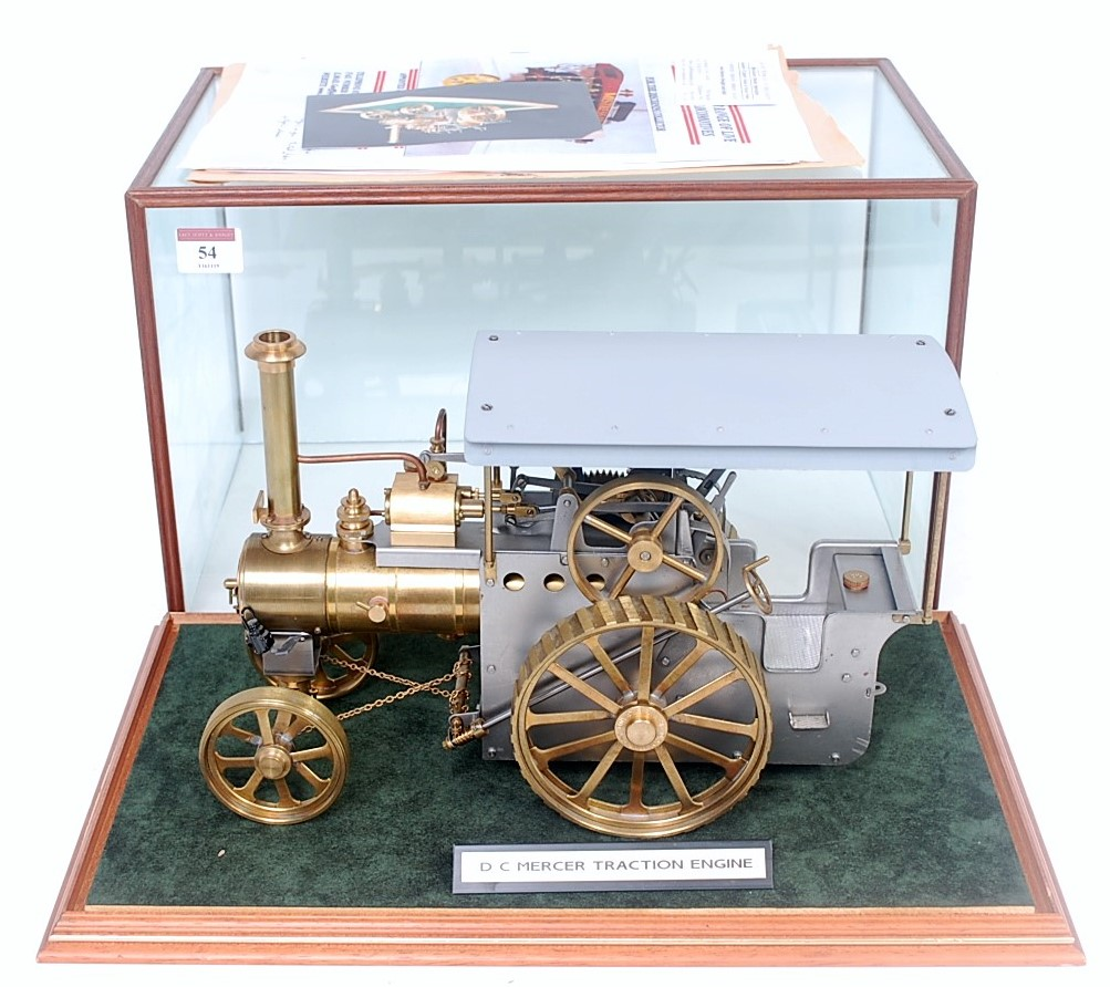 Lot 54 - A DR Mercer of Birmingham kit built and well engineered model of a Type 1 Mercer live steam spirit