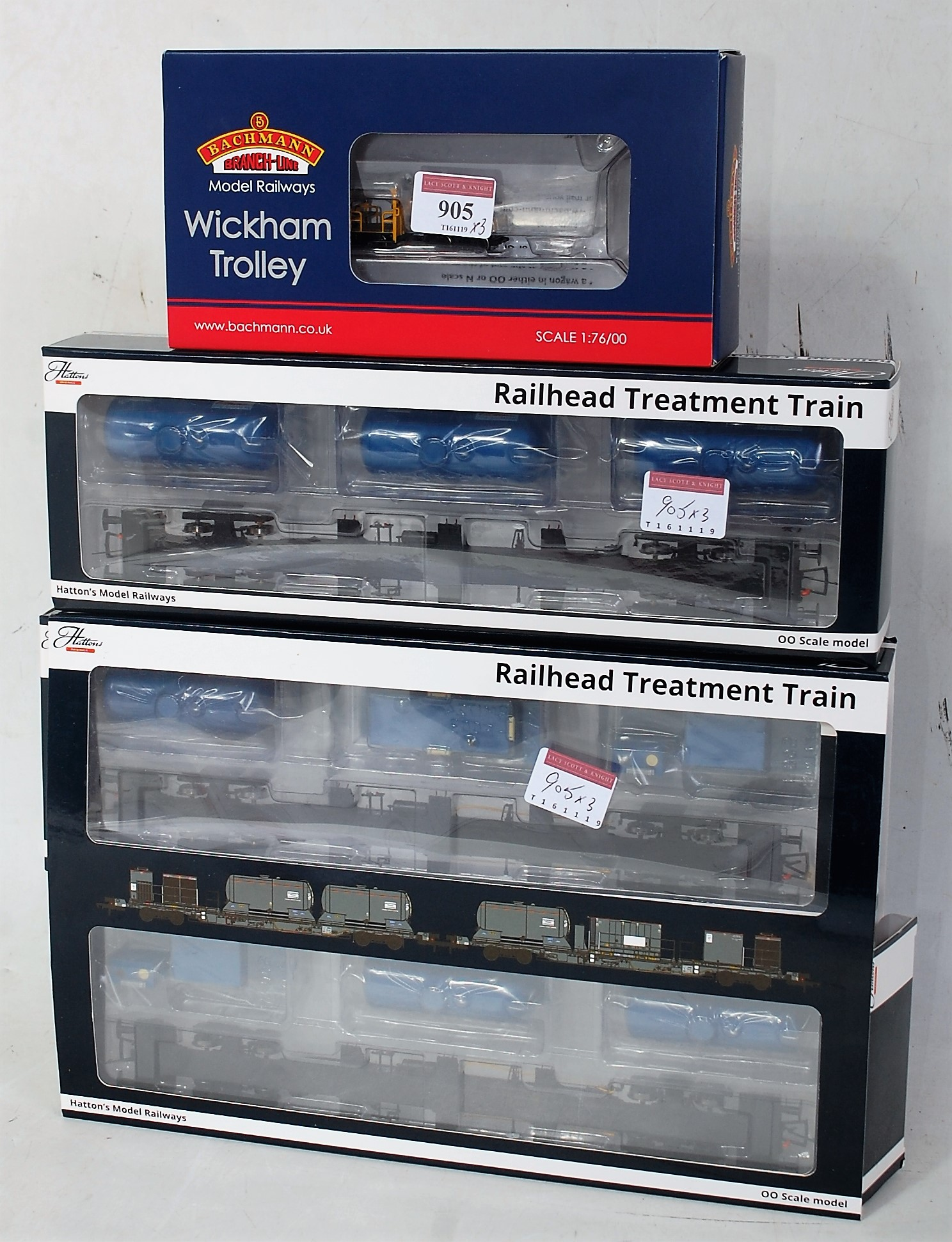 Lot 905 - A Bachmann 302-992 Wickham PW trolley car BR engineers yellow (M-BM), together with Dapol H4-RHTT-