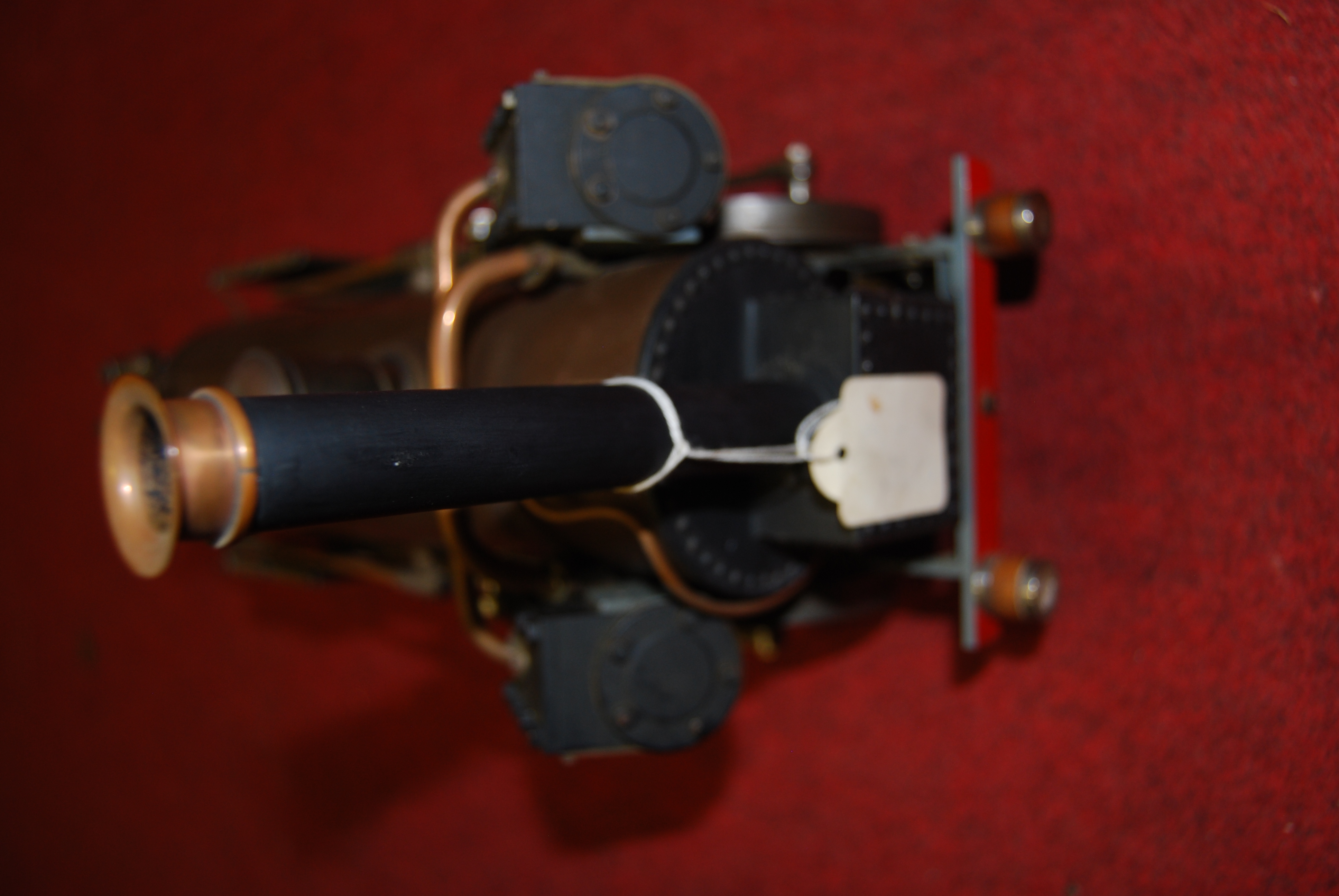 "Lot 28 - A 3½"" gauge live steam kit built model for an Invicta 0-4-0 locomotive and tender, finished in brown"