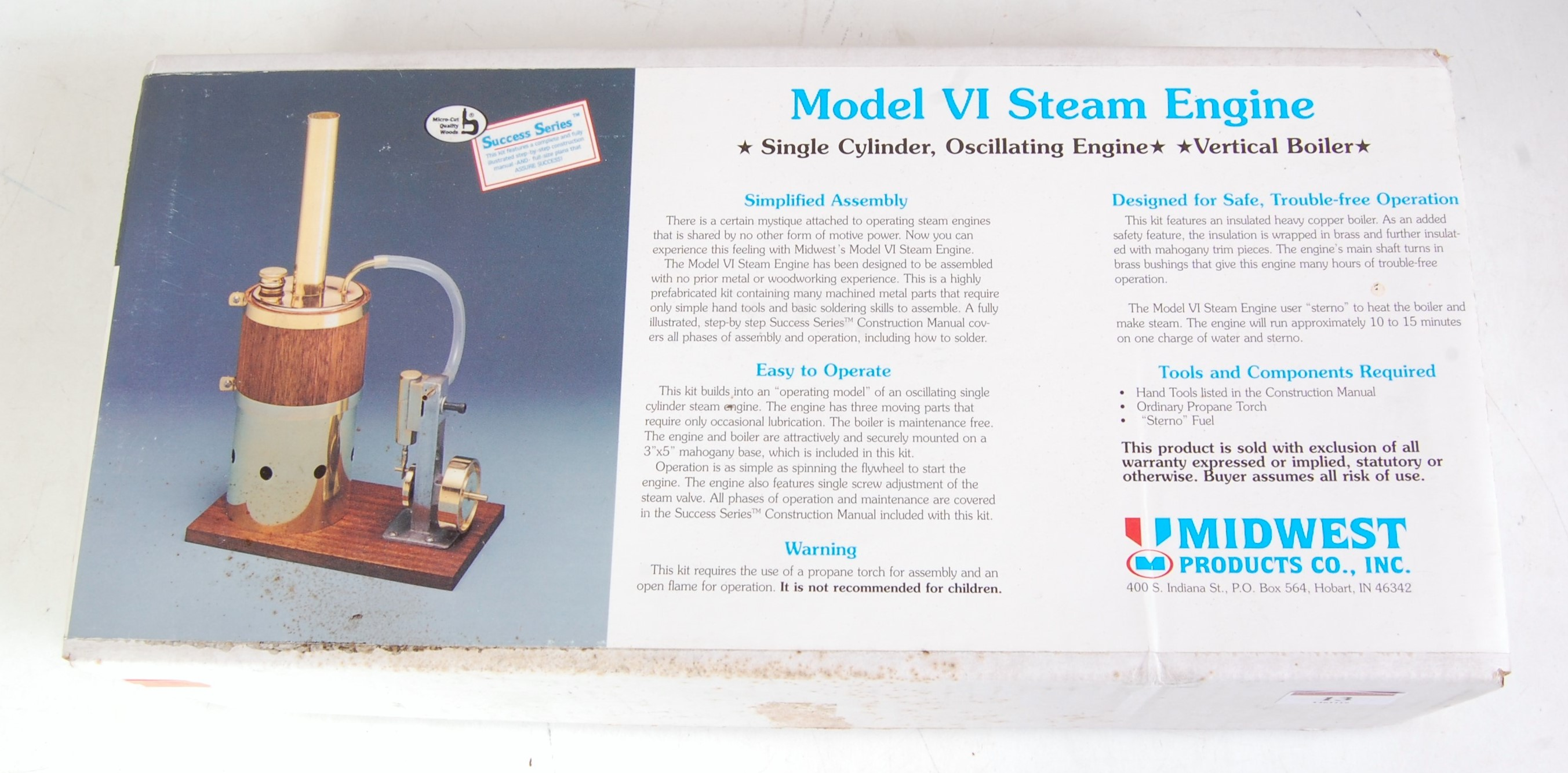 Lot 13 - A Mid West Products simple assembly kit for a model 6 Steam Engine, appears as issued in the