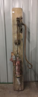 Lot 32 - An antique cast-iron and brass water pump manufactured by Lion