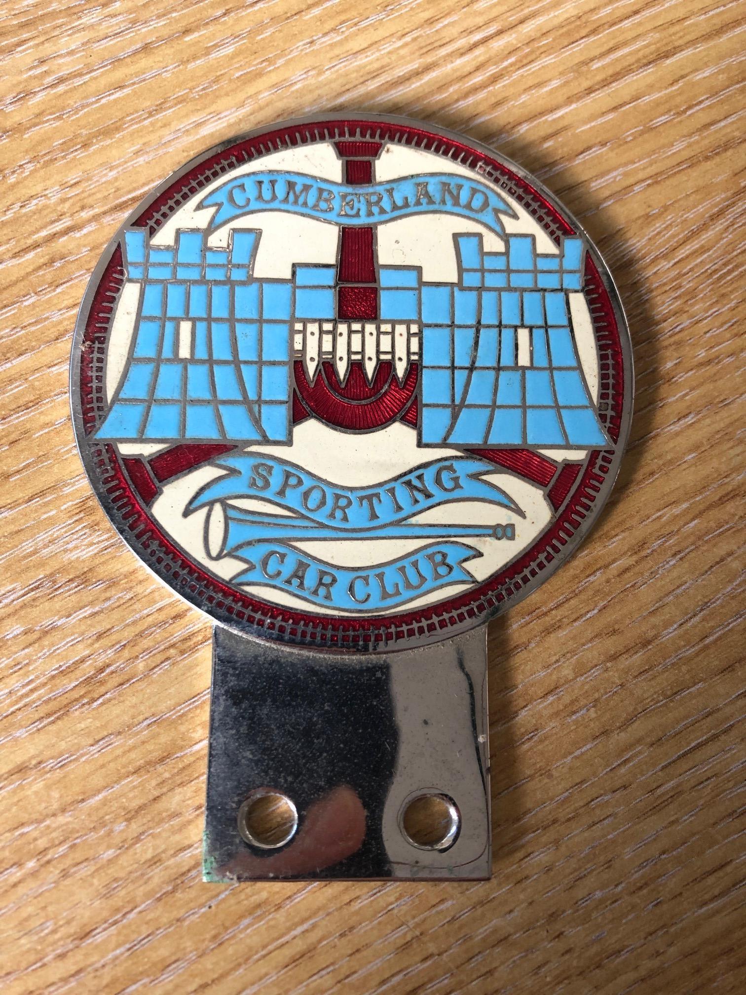 Lot 10A - A Cumberland Sporting Car Club enamelled car bumper badge