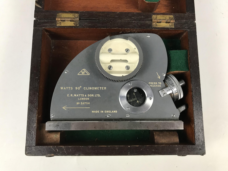Lot 57 - A Watts 90 degree clinometer