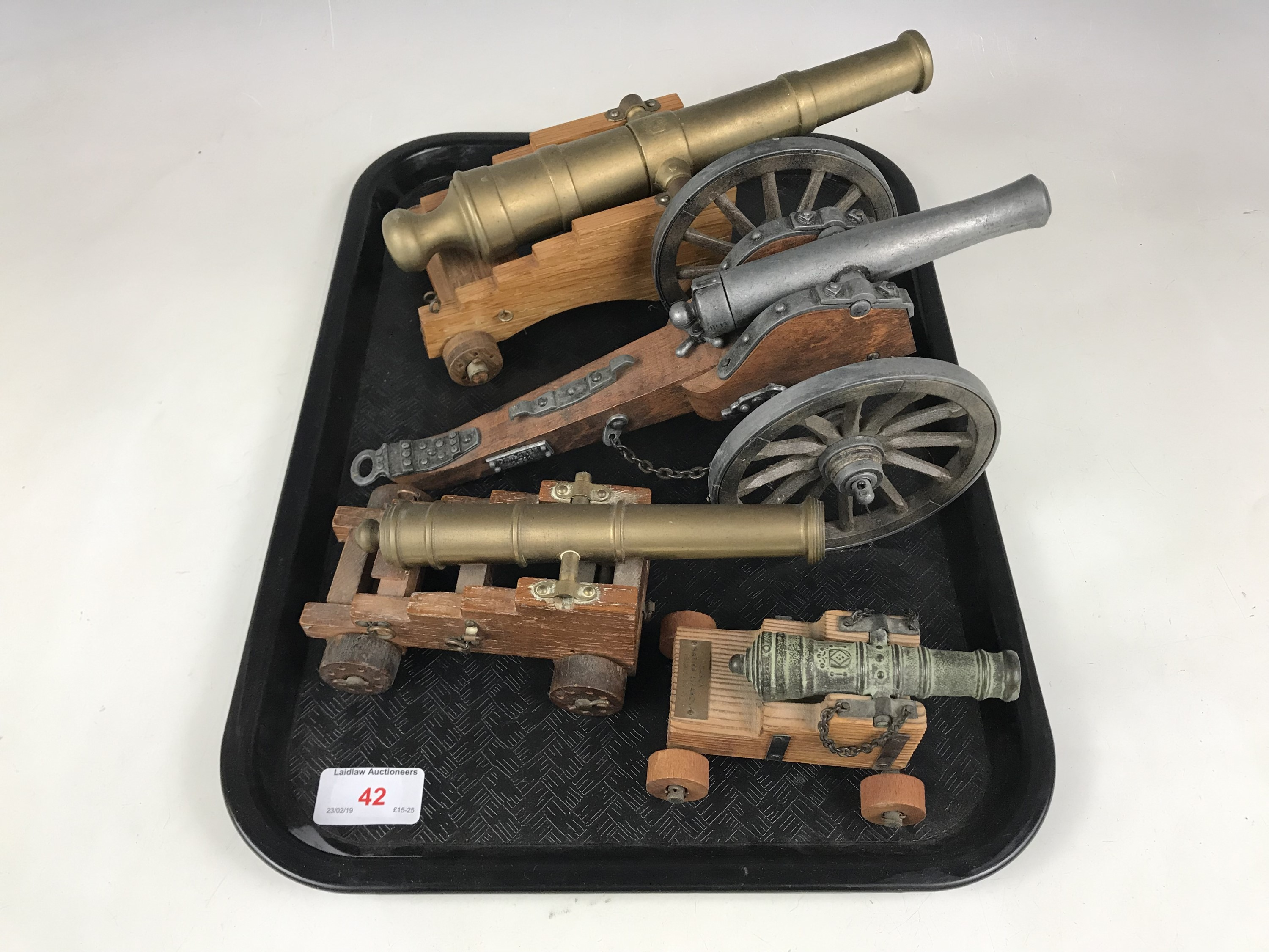 Lot 42 - Four model cannons