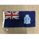 Lot 61 - A mid 20th Century Cadet Corps printed cotton flag, 30 x 15 inch