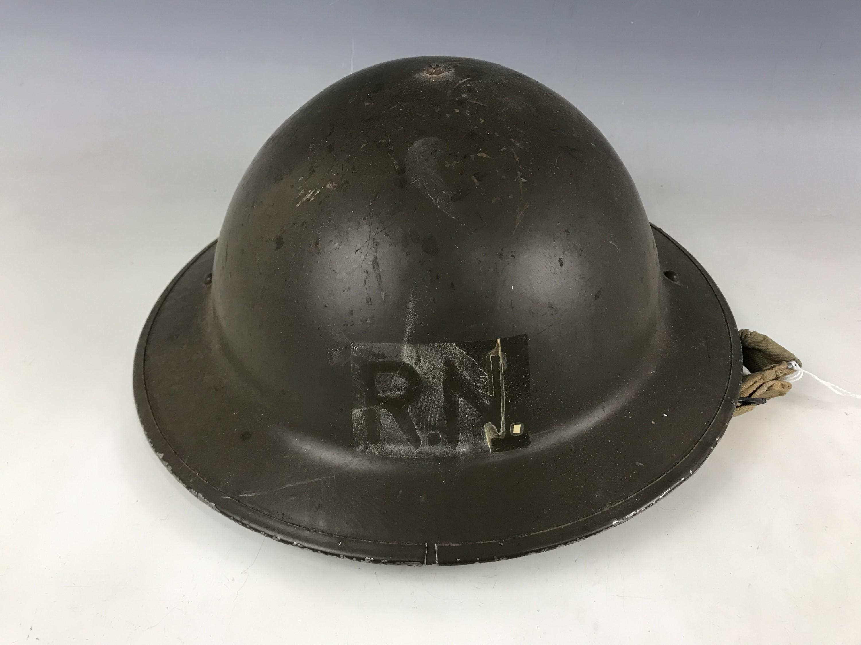 Lot 45 - A Second World War British army steel helmet