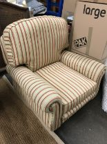 Lot 977 - A quality contemporary upholstered armchair