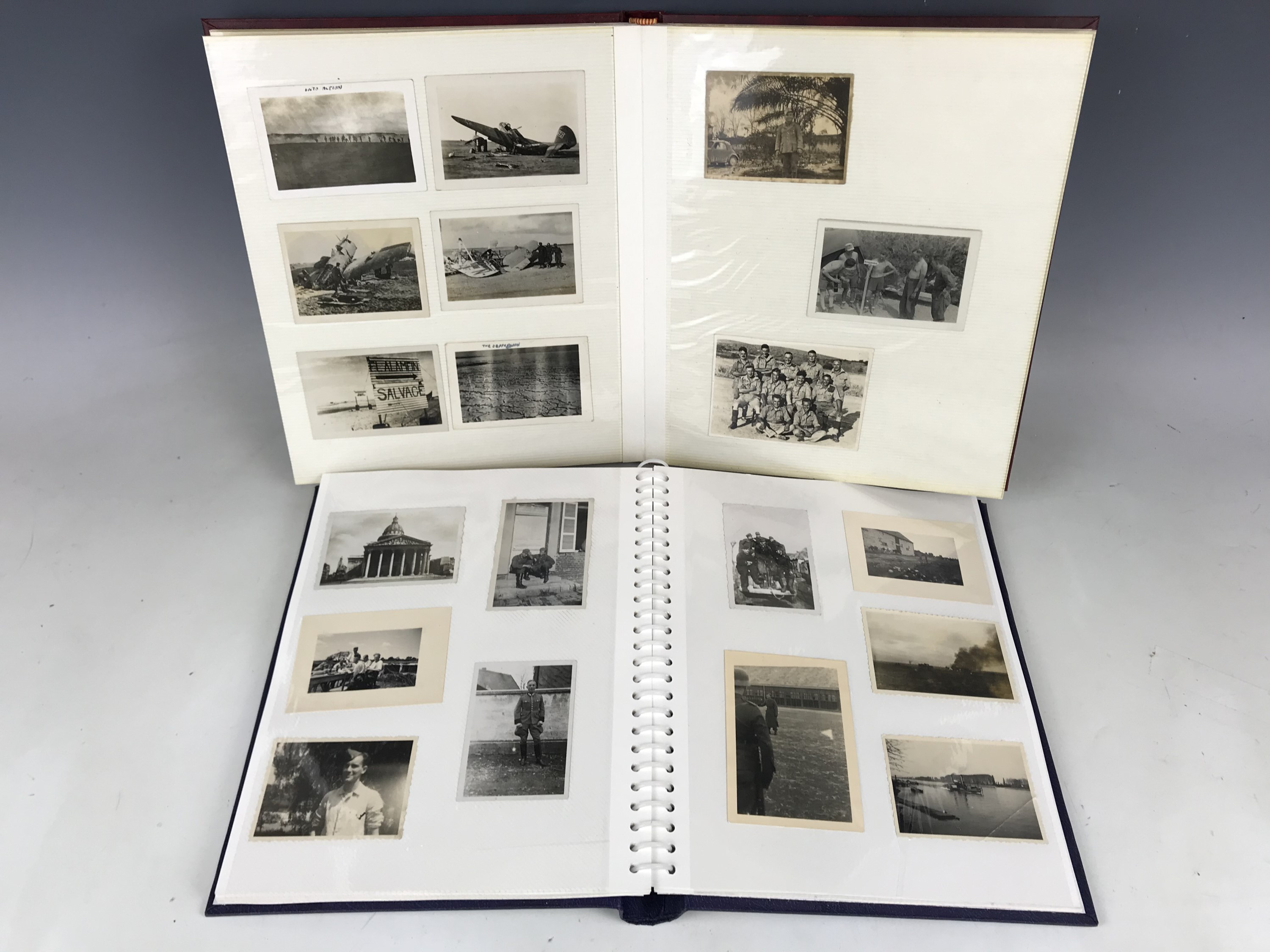 Lot 5 - Two albums of German Third Reich military photographs