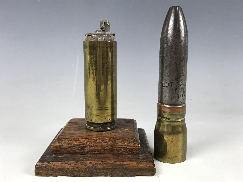Lot 7 - A Second World War trench art cigarette lighter