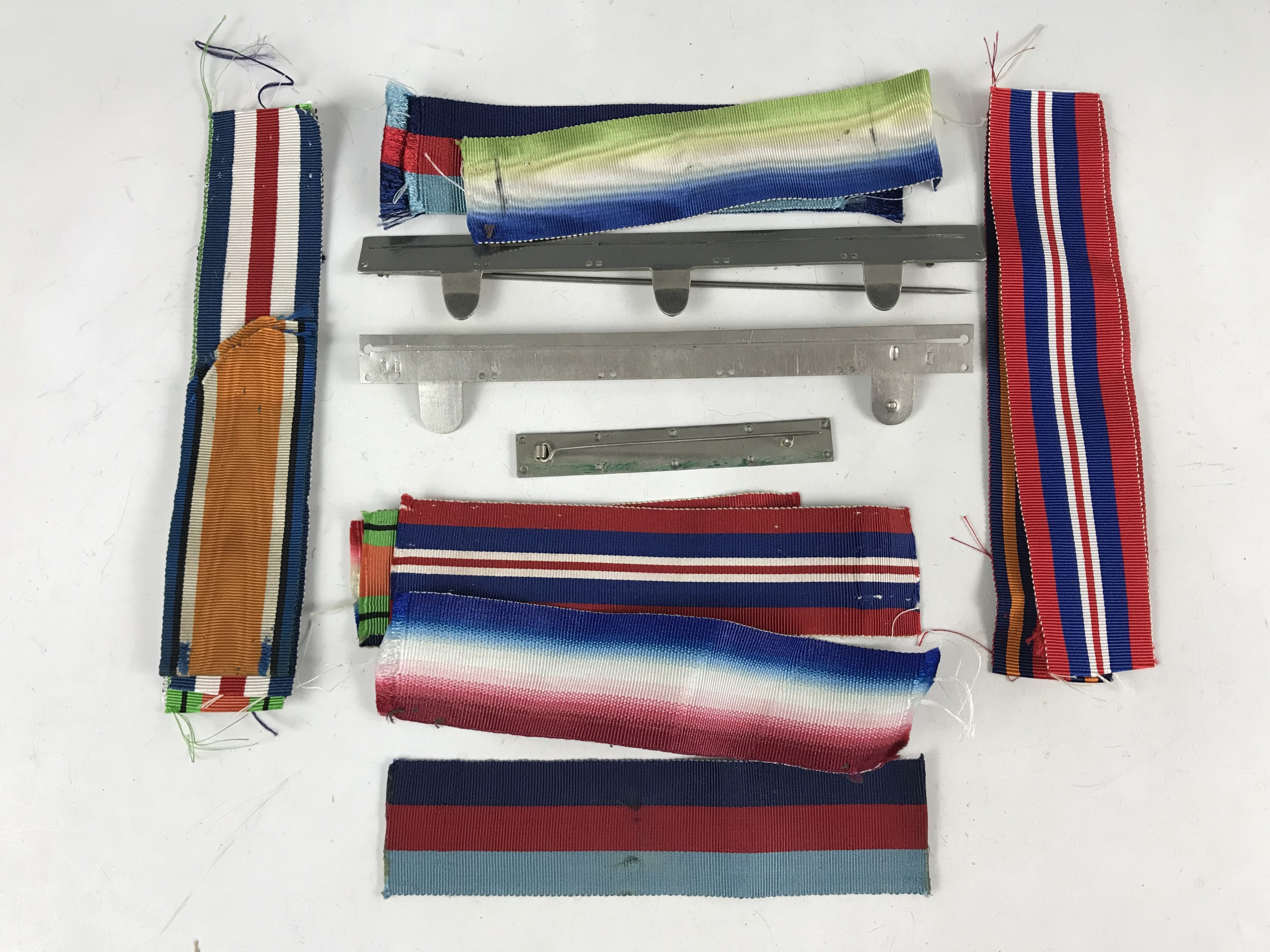 Lot 33 - A quantity of medal ribbons and medal mounting pin bars