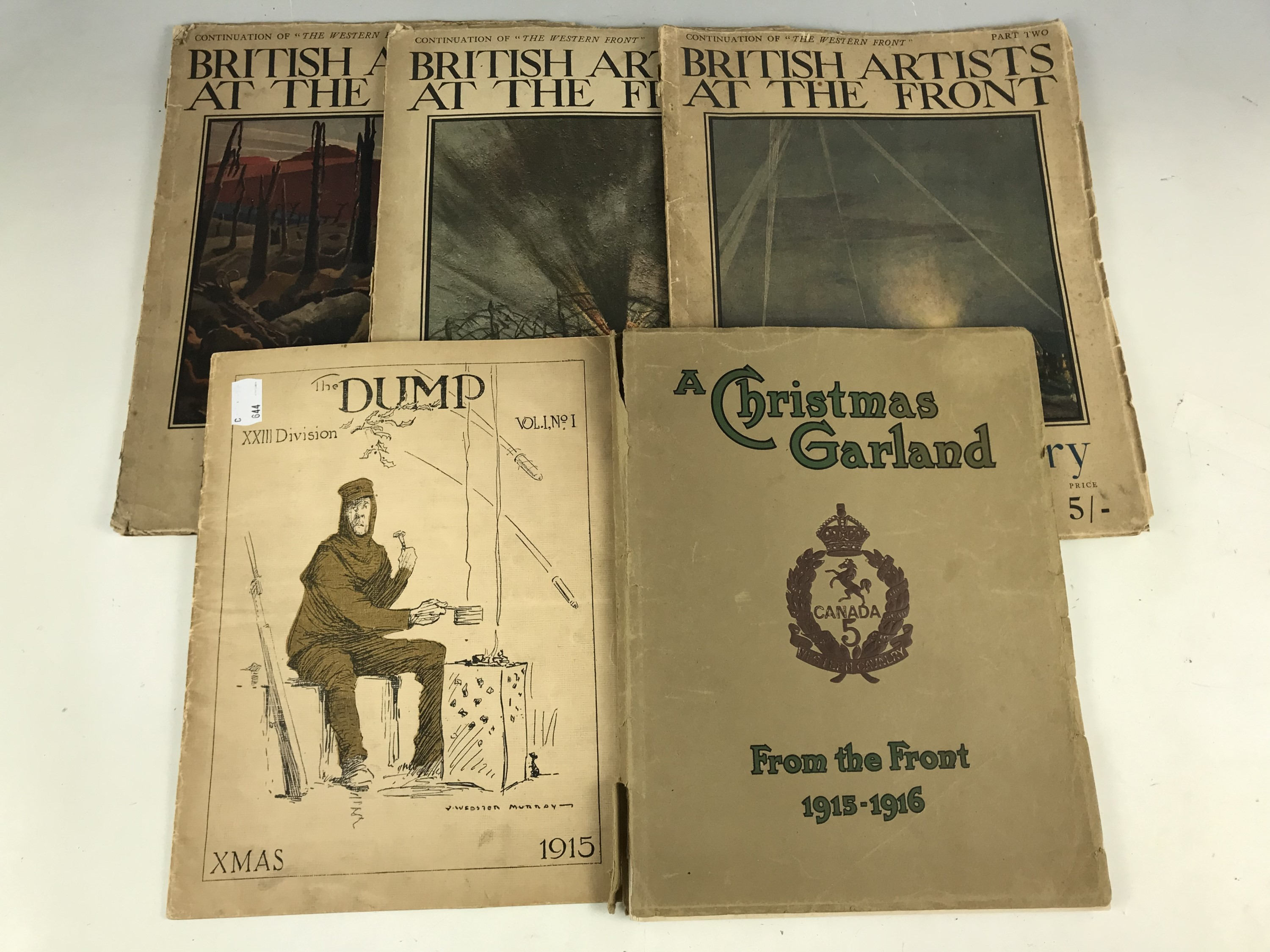 Lot 28 - Great War printed matter comprising a Christmas 1915 issue of the XXIII Division journal The Dump, a