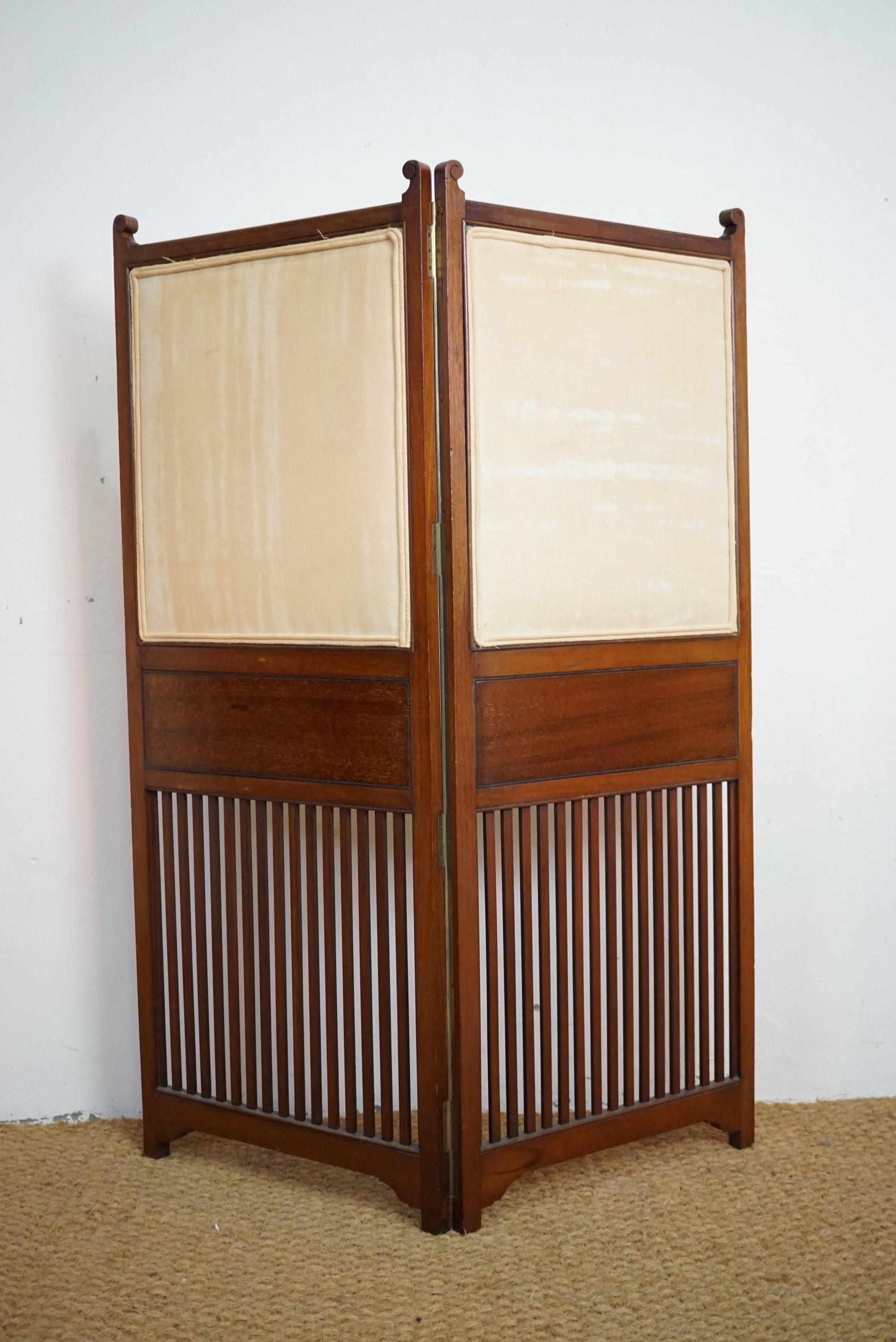 Lot 779 - A Victorian mahogany single-fold screen, 118 cm