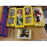 Lot 292 - Two boxed Pelham puppets, Mickey Mouse and Goofy, with three further boxed puppets, Old Lady,