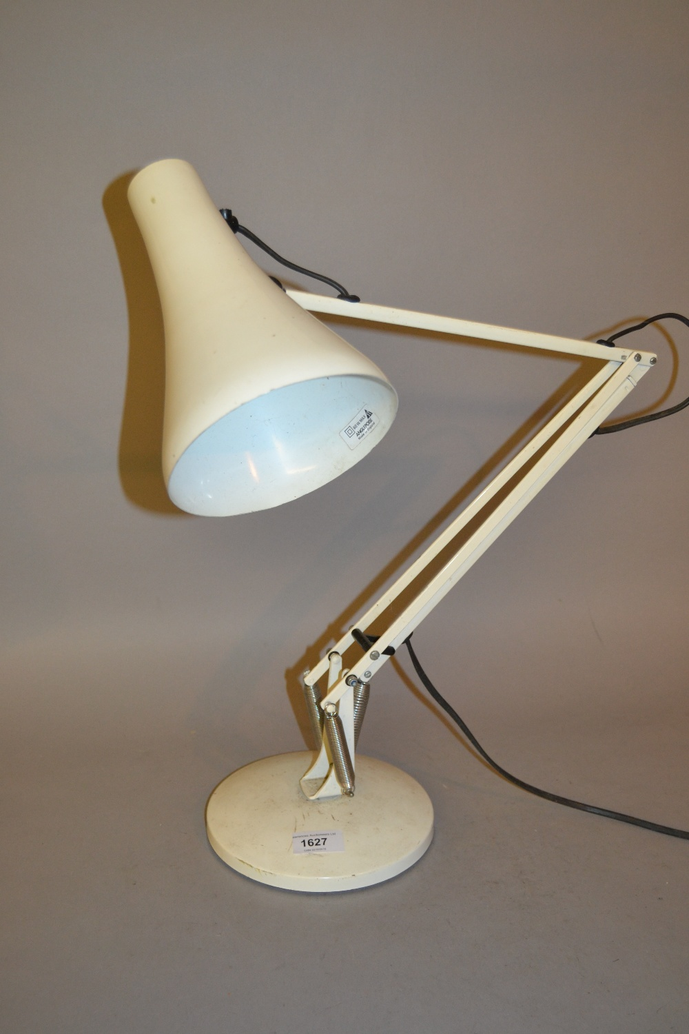Lot 1627 - 1960's White painted Anglepoise desk lamp