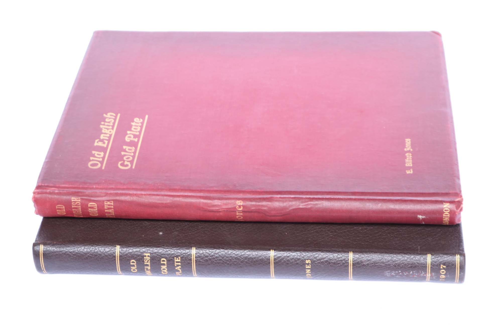 Lot 2 - ENGLISH GOLD Jones, E.A: Old English Gold Plate by Bemrose & Sons, 1907 (to copies) (2)