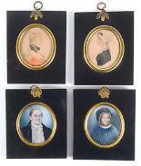 Lot 673 - ENGLISH SCHOOL EARLY 19TH CENTURY A miniature portrait of an officer wearing uniform, head &