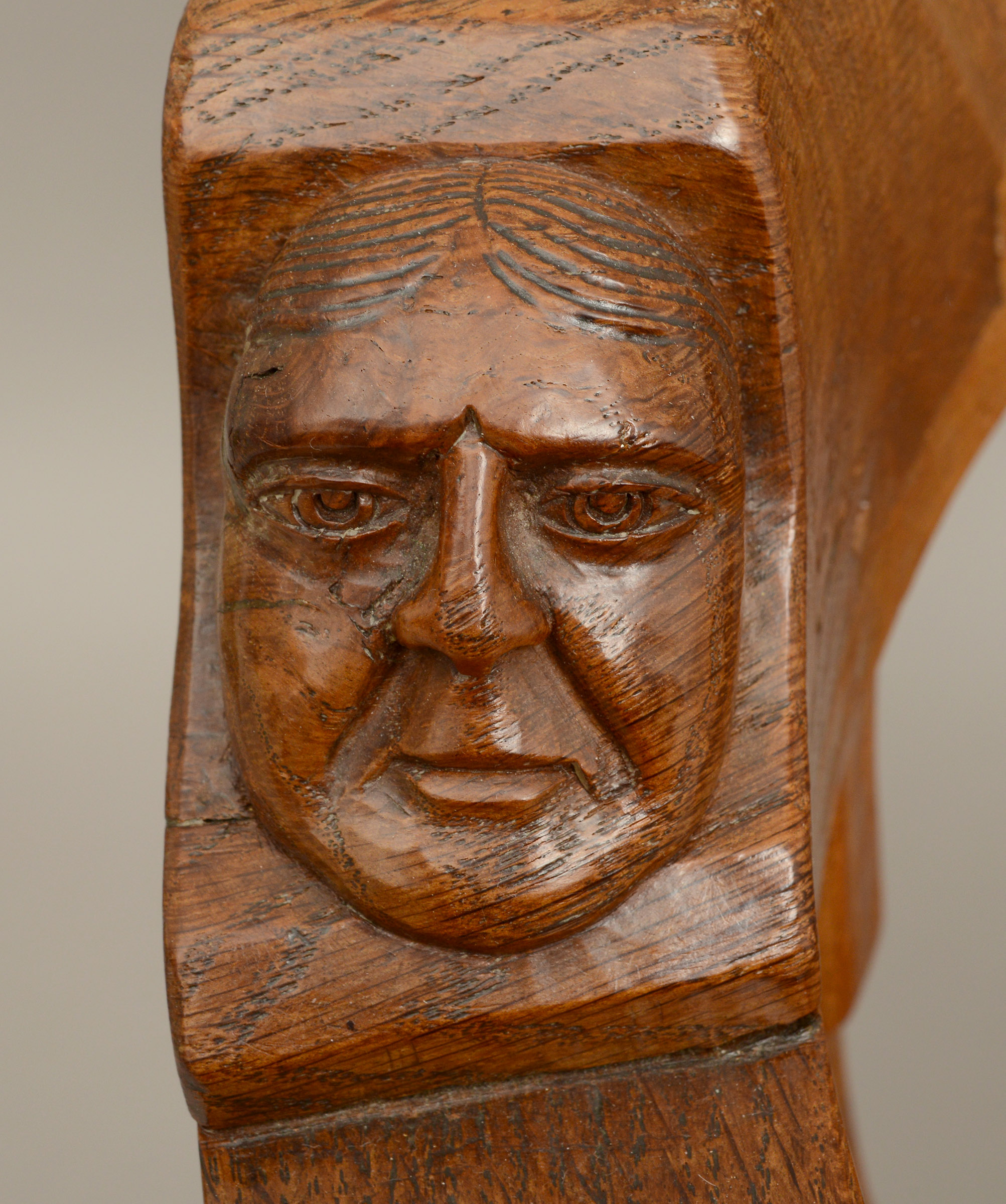 ROBERT THOMPSON OF KILBURN - MOUSEMAN MONKS CHAIR a circa 1920s/1930s oak Monk's armchair with a - Image 5 of 27