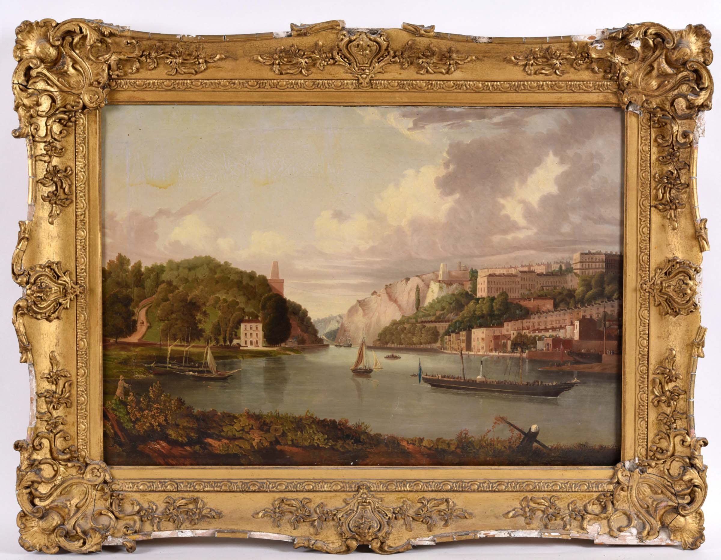 ATTRIBUTED TO JOHN SYER (1815-1885) THE AVON GORGE AT BRISTOL, LOOKING TOWARDS THE CLIFTON BRIDGE