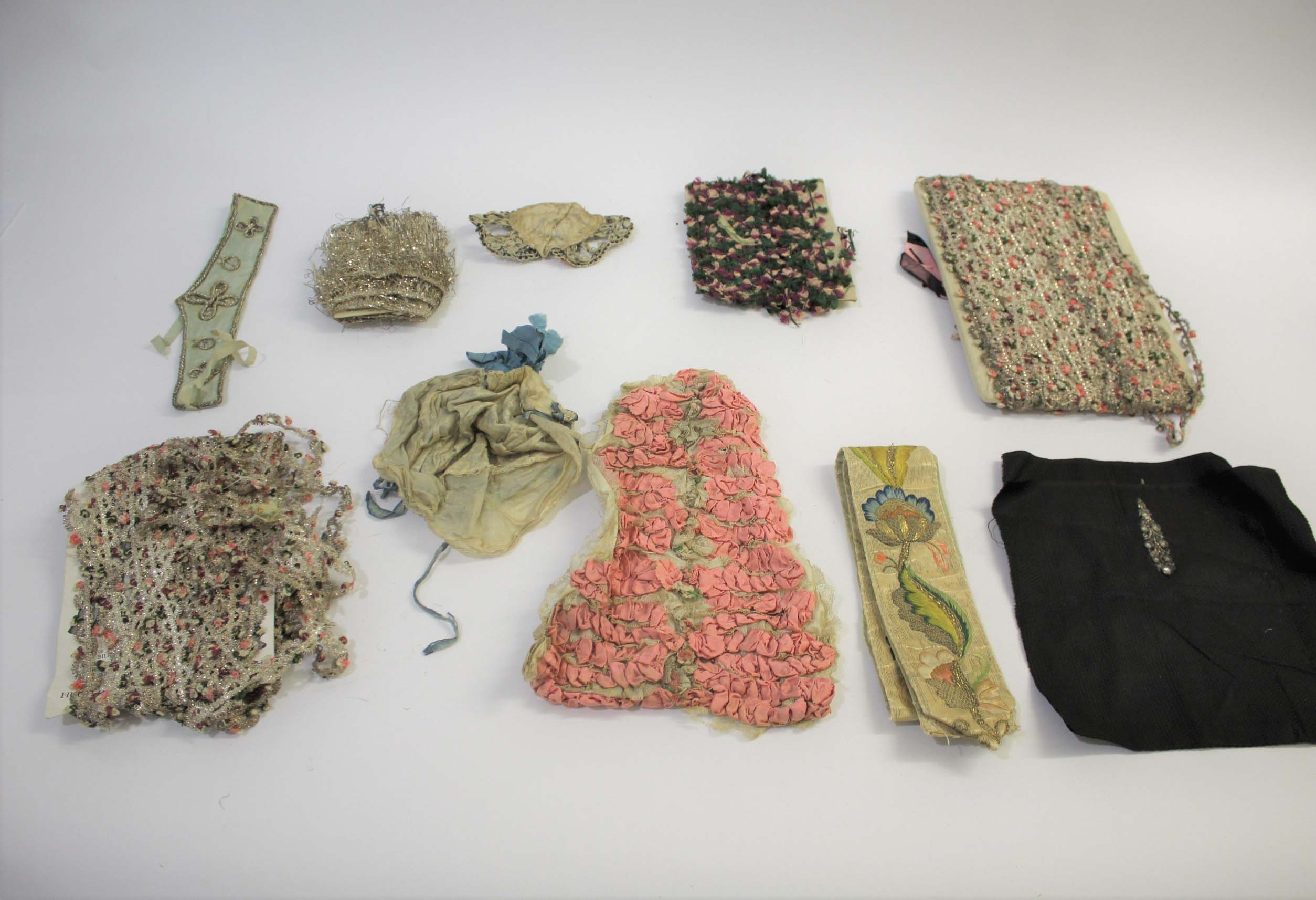 Lot 1857 - COLLECTION OF 18TH & 19THC TEXTILES & TRIMMINGS an interesting collection of 18th and 19thc