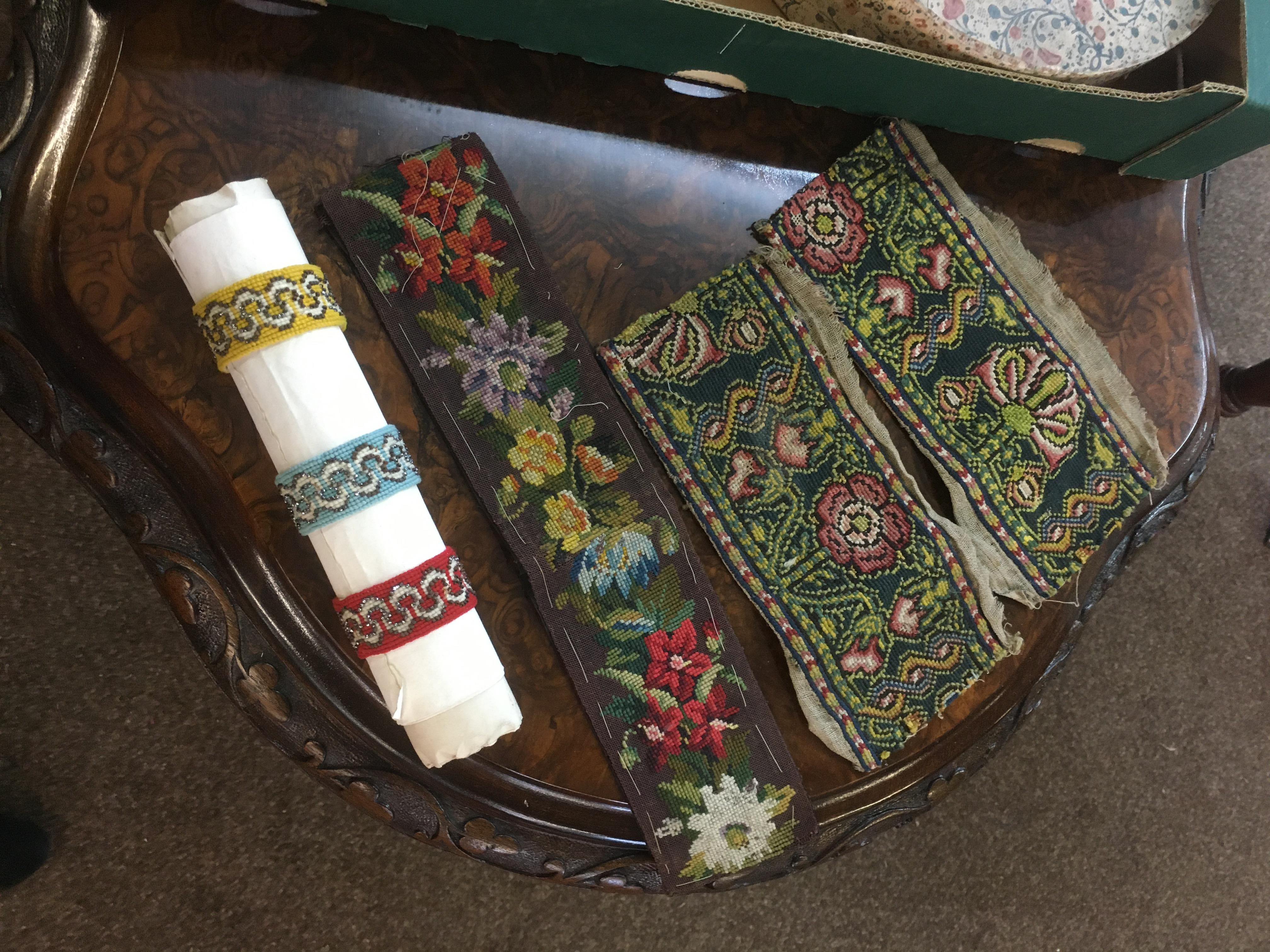 Lot 1851 - 18TH & 19THC TEXTILES an interesting collection of 18th and 19thc small textiles, comprising small