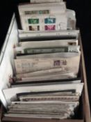 1 Karton gefüllt mit Steckkarten und Briefe. Schöne Fundgrube, bitte besichtigen.1 box filled with